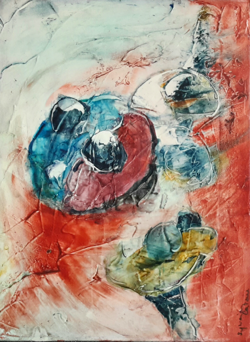 RENCONTRES_5-technique_mixte_30x40 pigments/huile 220 euros